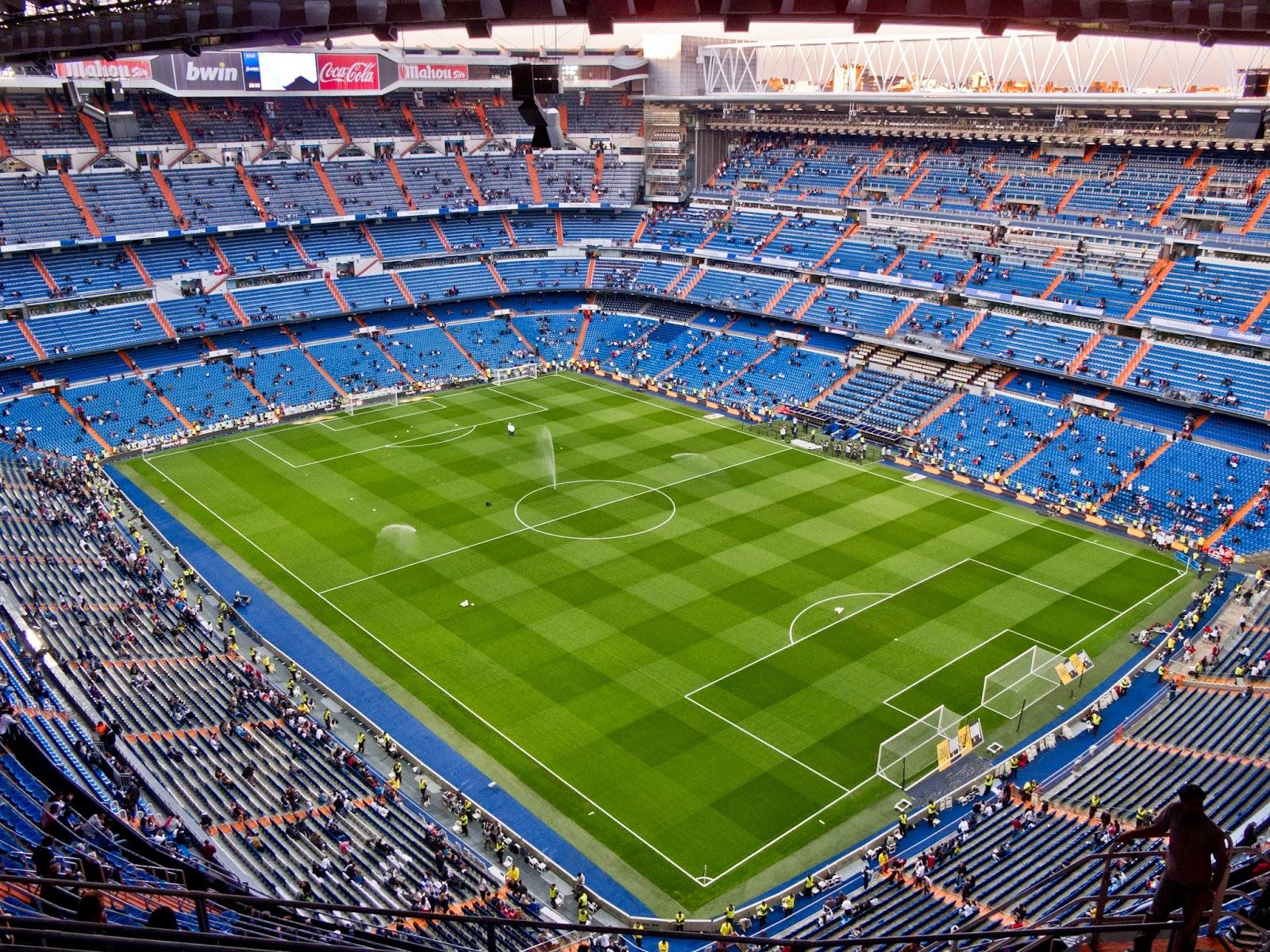 Imagen del campo de fútbol del Real Madrid: Santiago Bernabéu