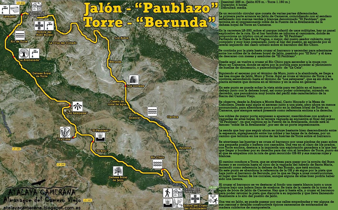 """Ruta de Senderismo: Jalón de Cameros """"El Paublazo"""" - Torre en Cameros """"Berunda"""""""