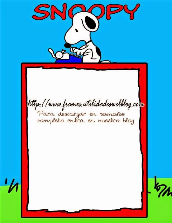Hermosa Marco De Imagen Snoopy Friso - Ideas de Arte Enmarcado ...