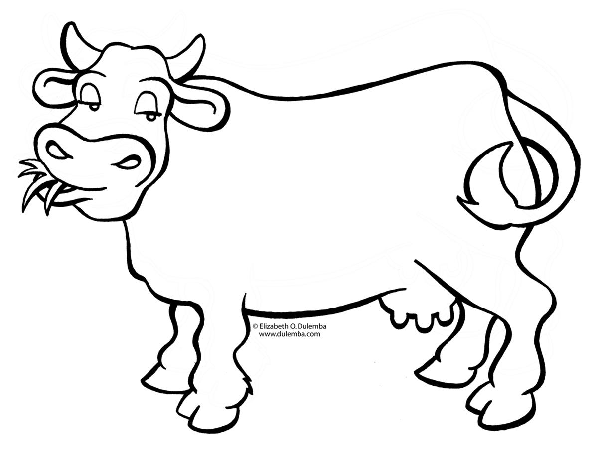 belajar mewarnai binatang sapi 3
