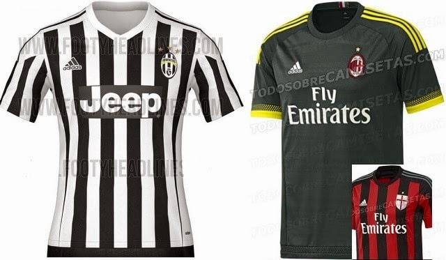 Desain Jersey Juve & AC Milan Musim 2015-2016