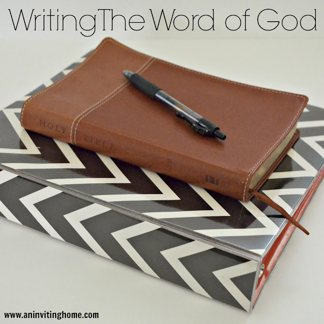 writing the word of God
