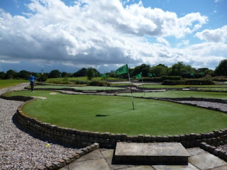 Photo of the Minigolf course at the Dunton Hills Family Golf Centre in West Horndon, Essex