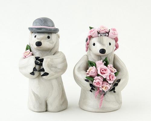 Polar Bear Wedding Cake Topper