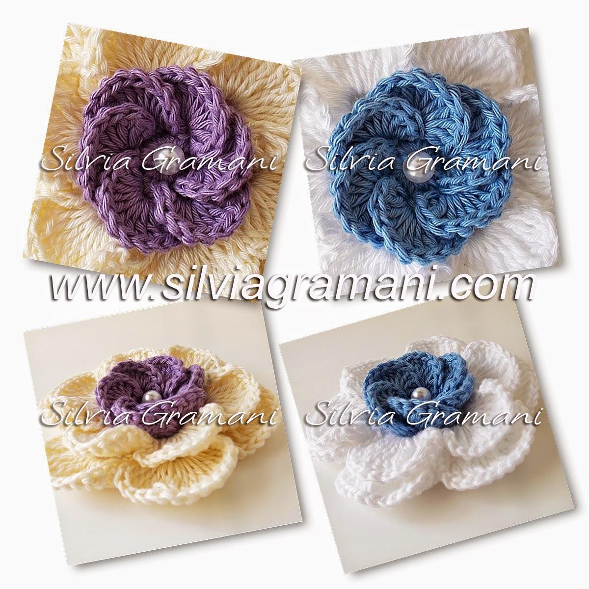 Flores de Crochê Sobreposta