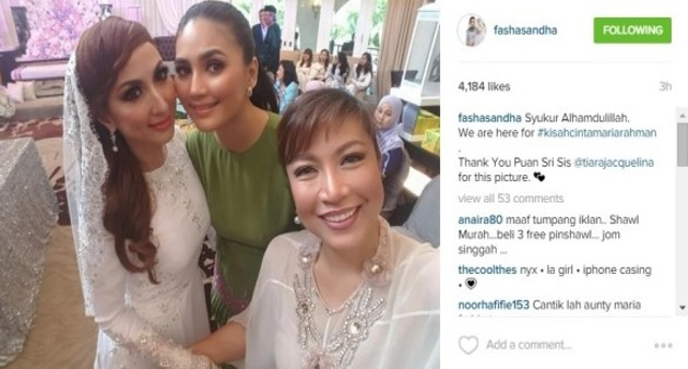 5 FOTO Maria Farida Sah Bergelar Isteri Kepada Datuk Rahman