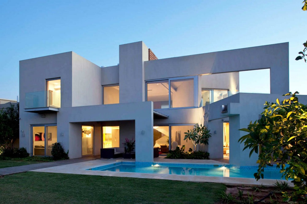 Beautiful houses two story house design israel for Architecture simple