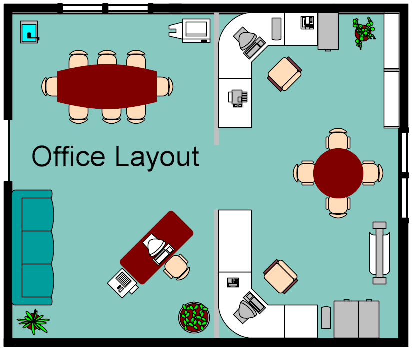 Foundation dezin decor home office layouts for Office desk layout planner