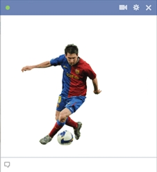 Messi Emoticon For Facebook Chat