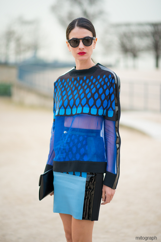 Leila Yavari After Elie Saab Paris Fashion Week 2013-2014 Fall Winter PFW