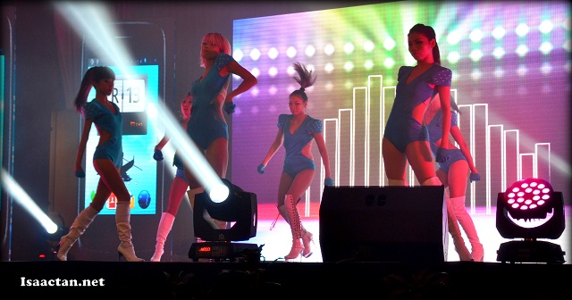 We were entertained by energetic dancers midway through the launch
