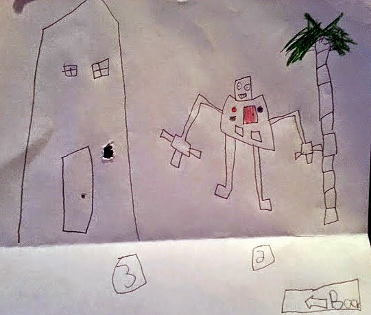 Kids picture of robot