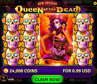 Queen of the Dead slots from House of Fun at Facebook screenshot #1