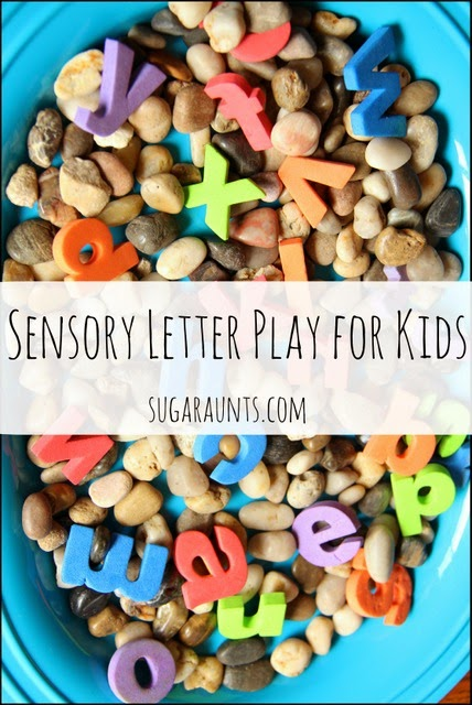 Kids love to explore testures while learning letters