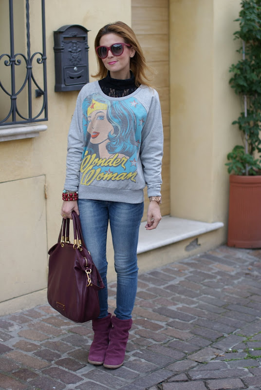 printed sweatshirts, felpa stampata, casual outfit