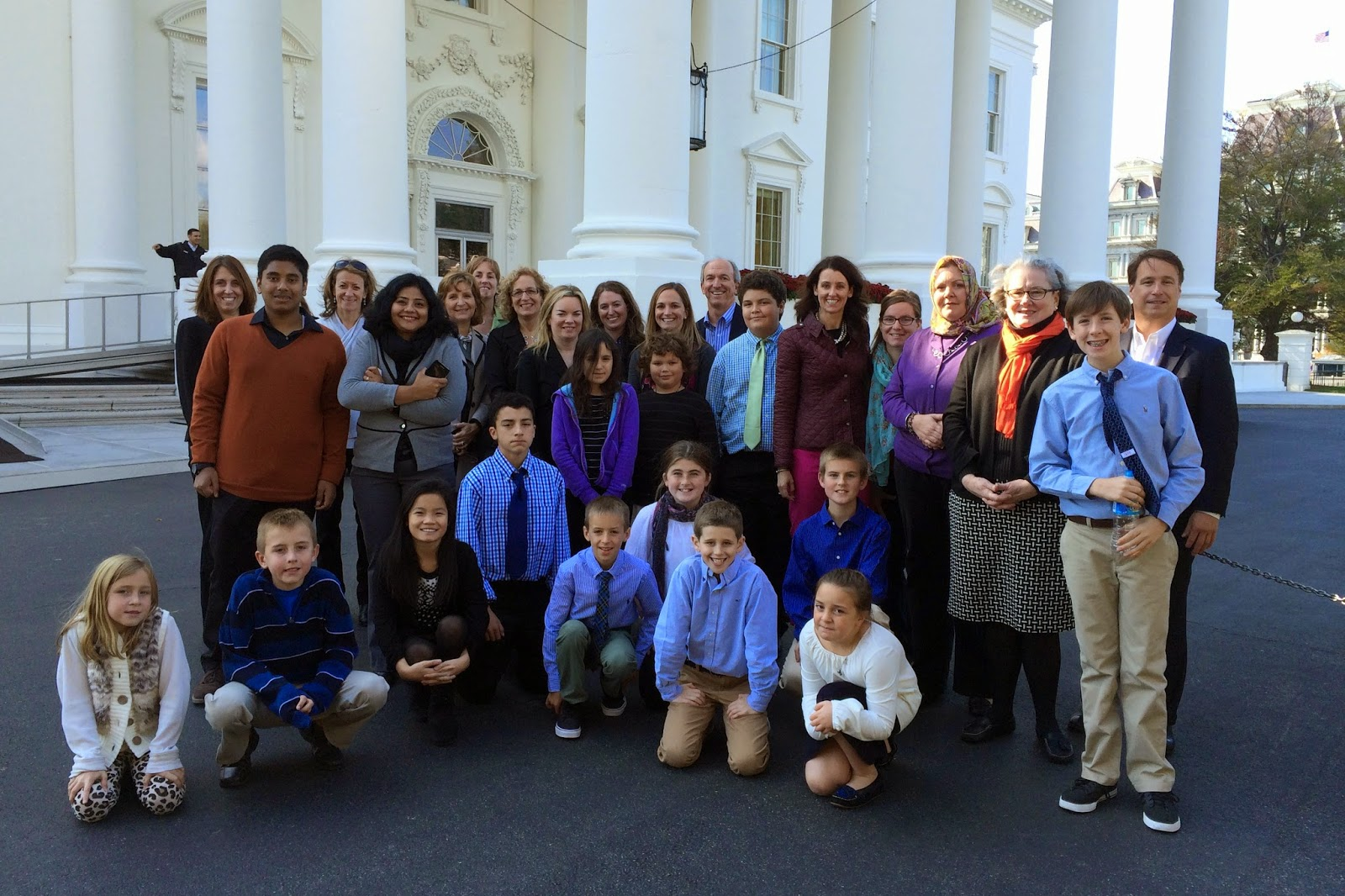 Hockomock YMCA Healthy Futures group outside the White House