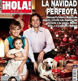Foto de Rossana Fernández Maldonado con su familia en Revista HOLA