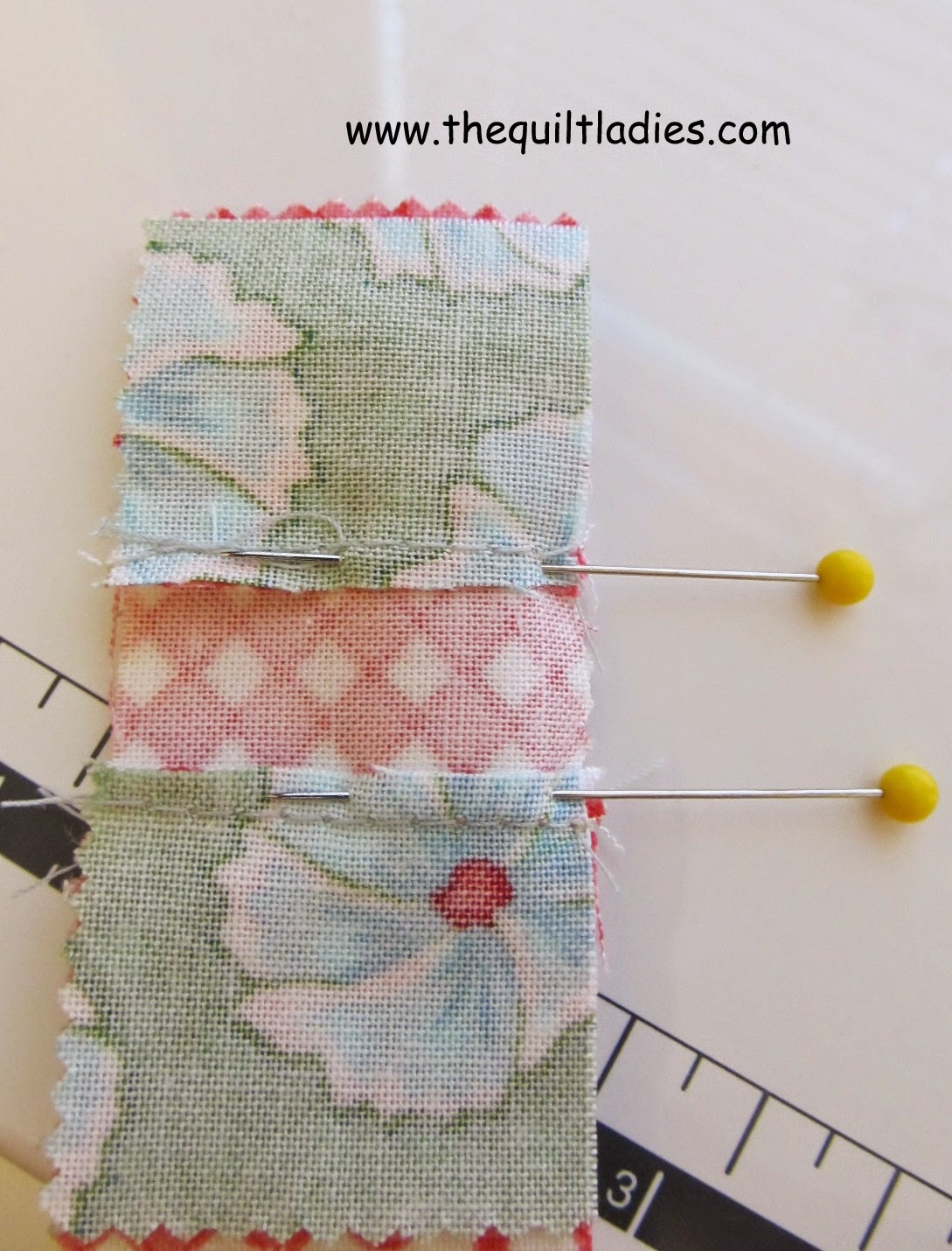 How to make a Nine Patch Table Topper Tutorial by The Quilt Ladies