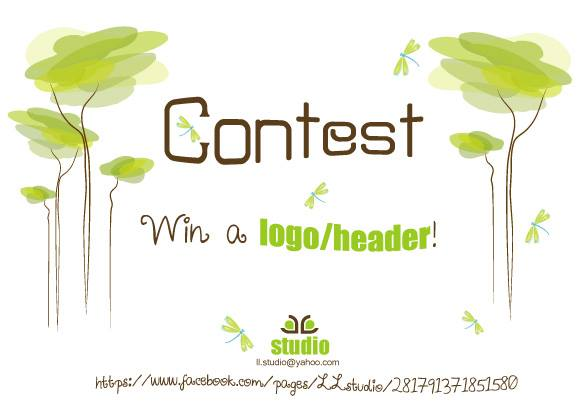 contest win header logo design
