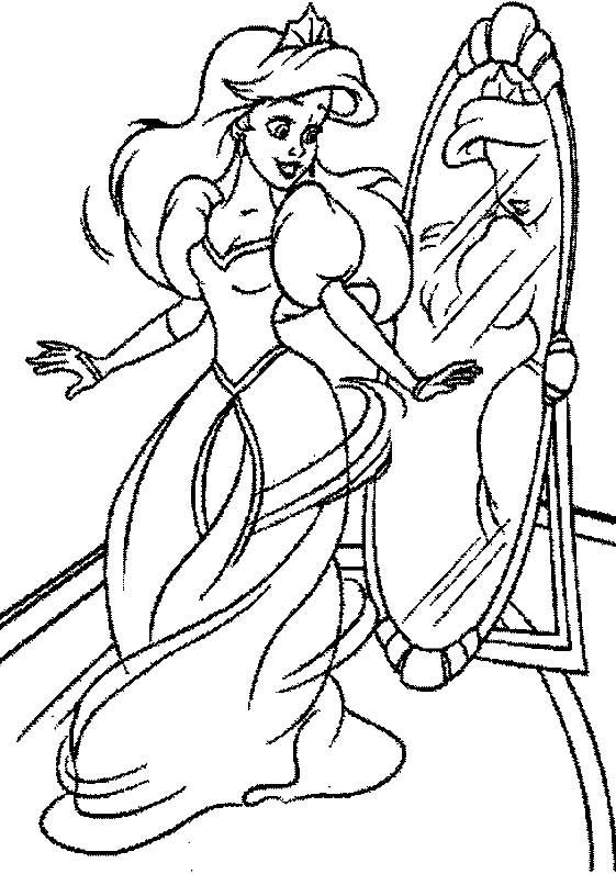 Desenhos Para Colori Princesa Ariel No Fundo Do Mar desenhar