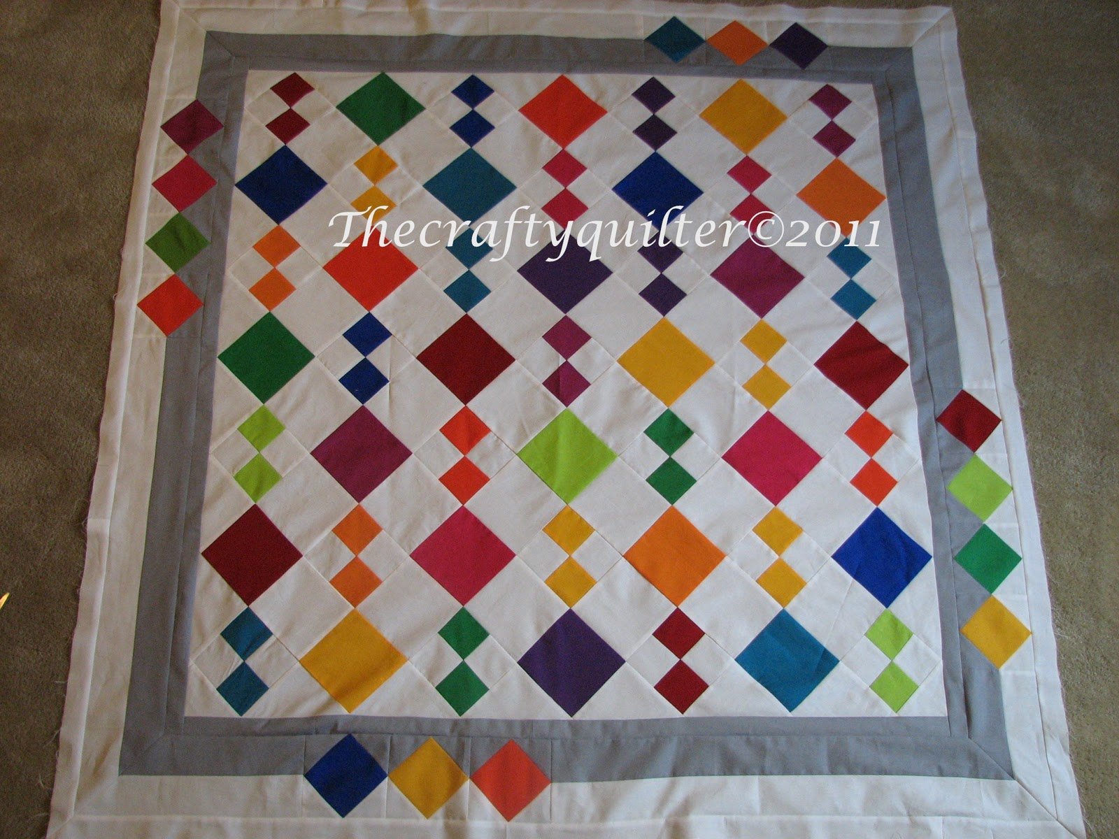 The Crafty Quilter S Closet Jean S Diamonds Quilt Pattern
