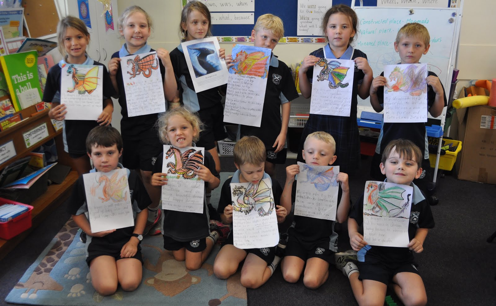 Year 1 and 2 Dragon stories and pictures