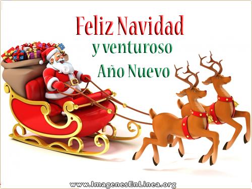 Feliz Navidad y venturoso Año Nuevo, tarjetas bonitas de navidad para compartir en Facebook.