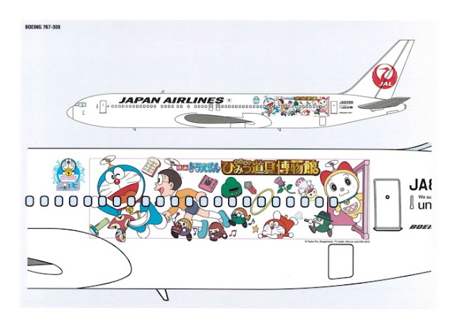 JAL Doraemon Jet 2013