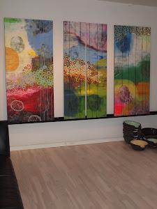Hver sit værk i 150x70 x 3 stk. hvoraf 1 er delt over
