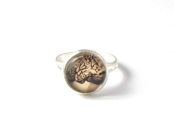 jewelsy handmade anatomy brain ring