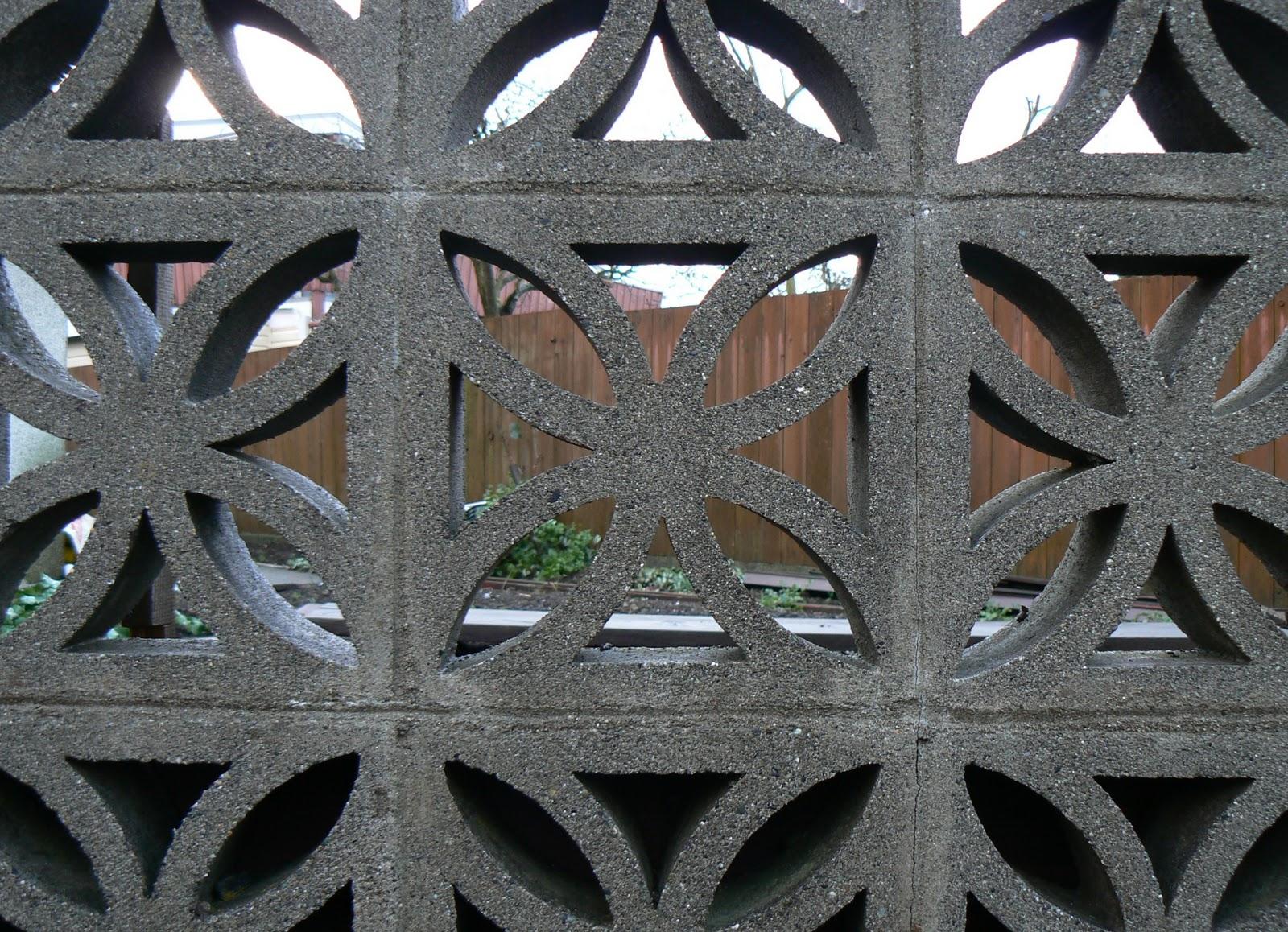 Joy And Wonder Mid Century Concrete Block Fences