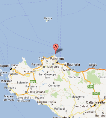 map of palermo italy sicily - photo#12