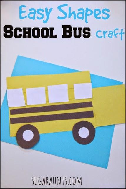 School bus art for preschoolers school bus art projects for School art and craft