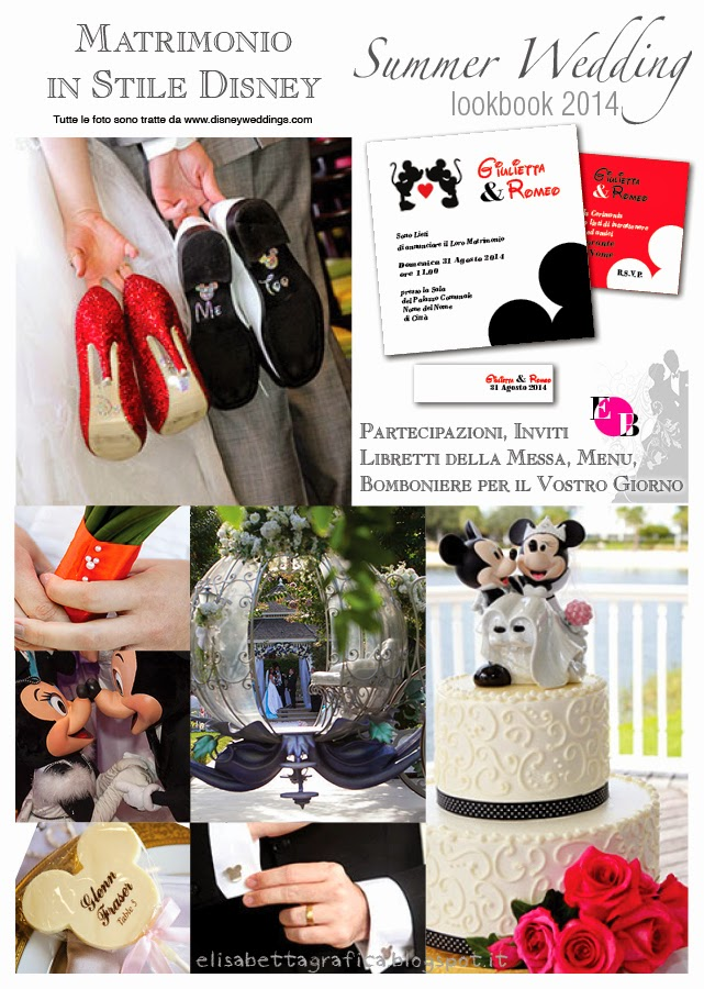 Matrimonio Tema Disney Bomboniere : Elisabetta grafica summer wedding matrimonio stile disney