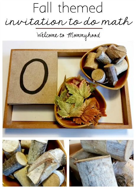 Bringing nature into fall themed preschool activities by Welcome to Mommyhod #montessori, #homeschool, #nature, #preschoolactivities