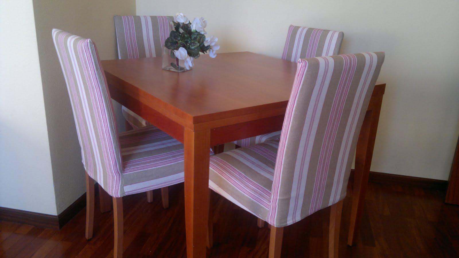 fundas para las sillas de comedor costura