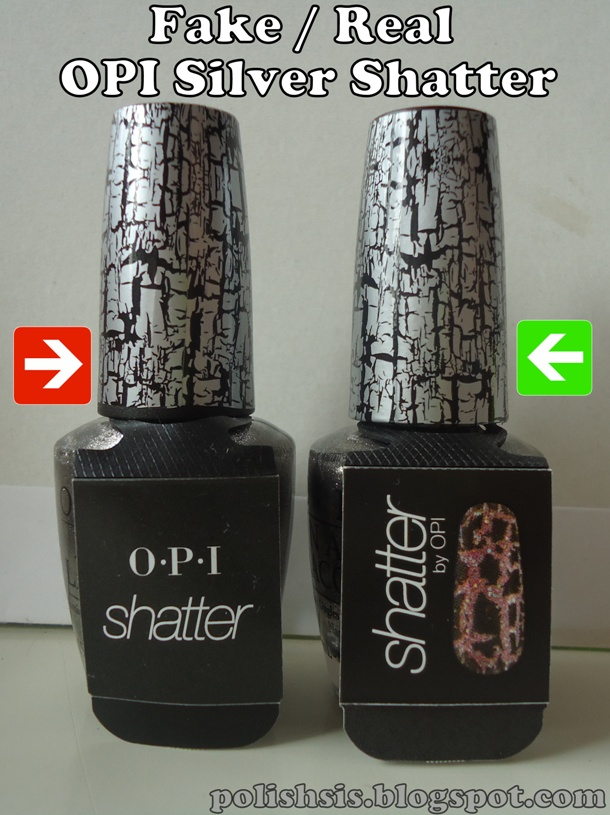OPI\'s from Ebay: spot the fake OPI Silver Shatter! | PolishSis