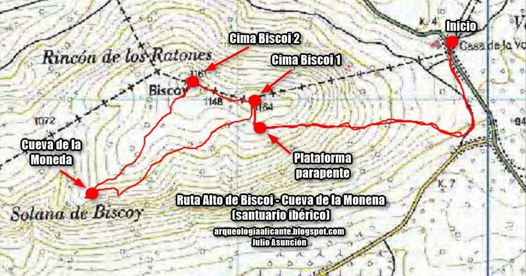 Rutas arqueol gicas por alicante mapa y localizaci n de - Casa de la moneda empleo ...
