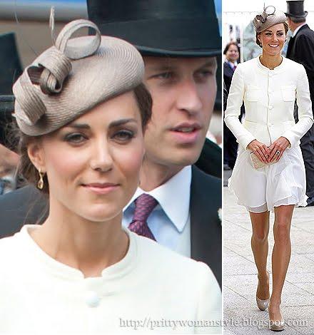Кейт в ефирна бяла рокля на Reiss