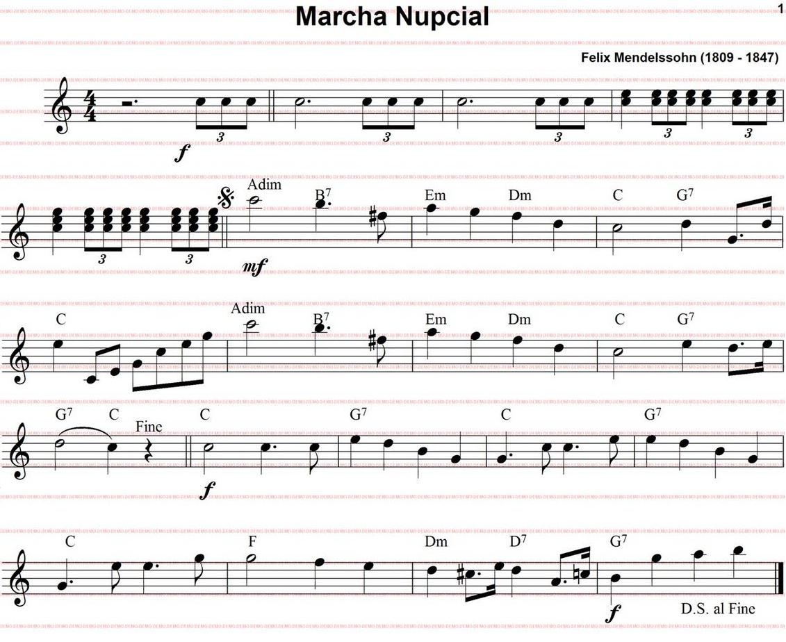 musica de marcha nupcial: