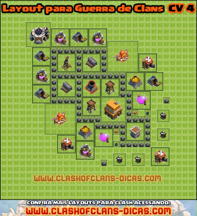 Layouts para Guerra Clashofclans-dicas-layout-cv4-guerra