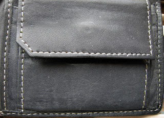 Leather, Men's Purse, Black Leather