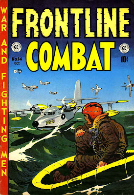 Frontline Combat v1 #14 ec golden age comic book cover art by Wally Wood