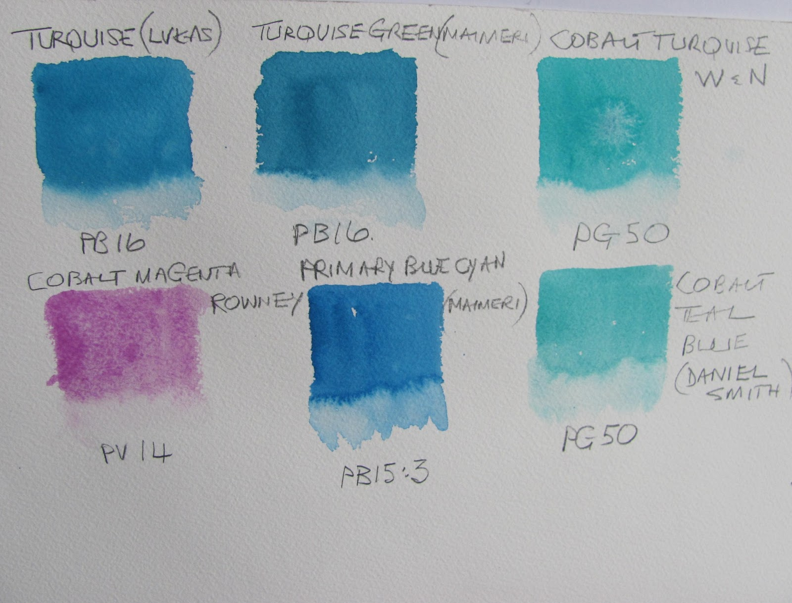 The watercolour log turquoise pb16 pigment blue 16 for How to make teal paint
