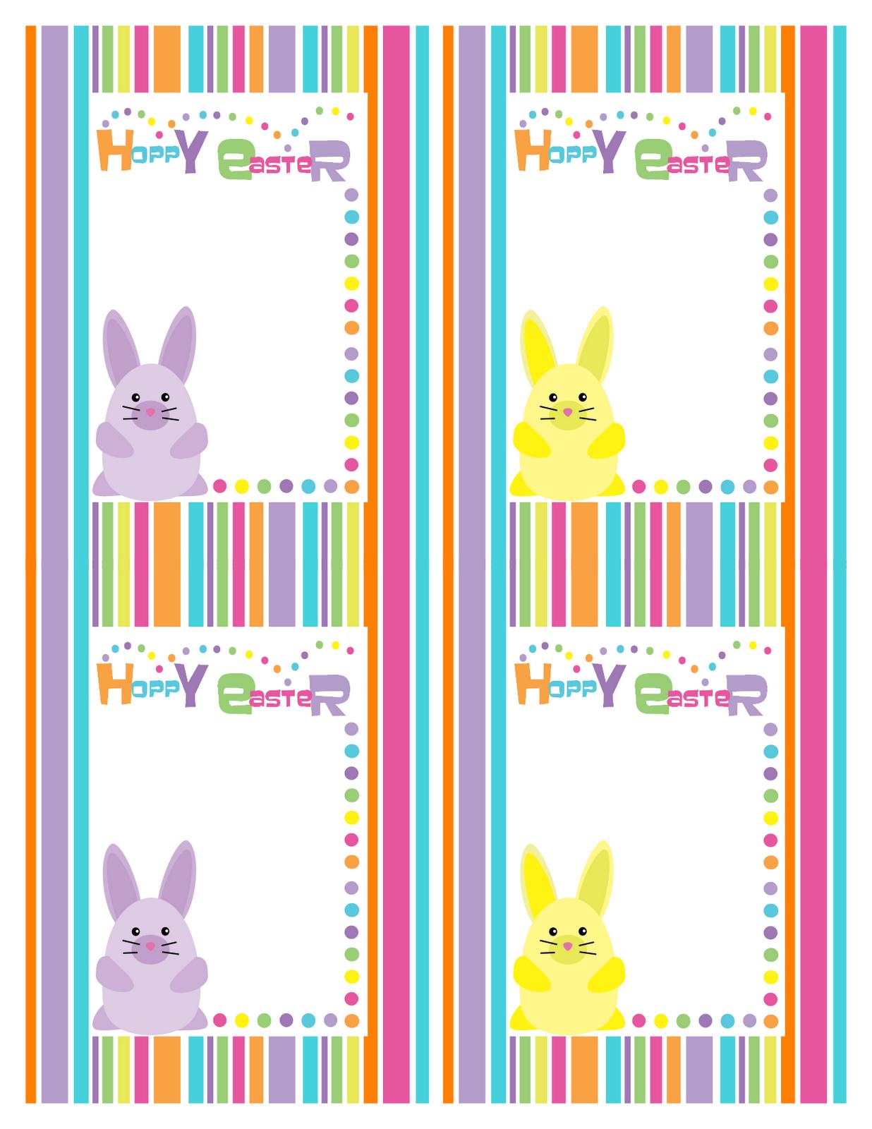 Bunny Rainbow Stripe Party Supplies Printable - Best Gift Ideas Blog