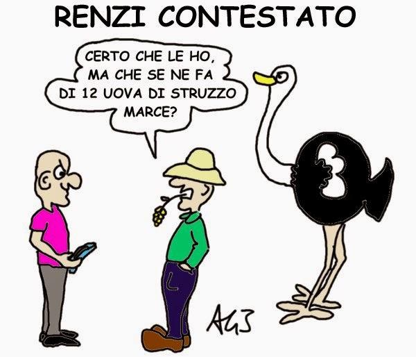 Renzi, satira, uova