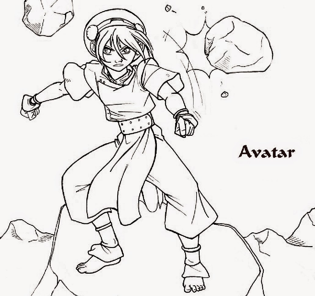 Avatar Coloring Drawing Free wallpaper