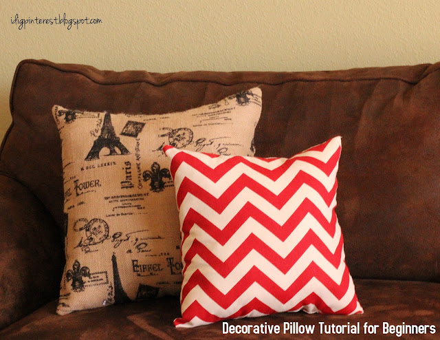 Decorative Pillow Tutorial For Beginners - Craft-O-Maniac