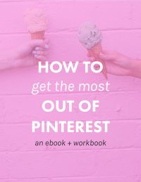 How to get the most out of Pinterest: A bree ebook. Great for beginner bloggers. From a post on blogging resources that are TOTALLY worth your time.