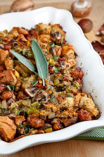 Italian Sausage, Mushroom and Chestnut Stuffing on Closet Cooking